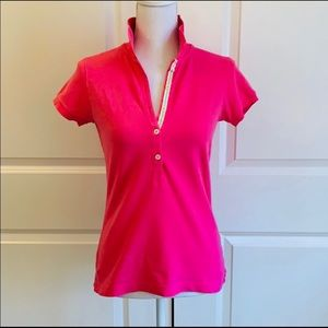 Lilly Pulitzer Hot Pink Polo